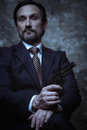 Portrait of a powerful crime boss