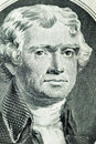 Portrait of president Thomas Jefferson Royalty Free Stock Image