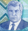 Portrait of the President of Turkmenistan Royalty Free Stock Photo