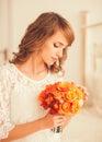 Portrait of a pretty bride Royalty Free Stock Photo