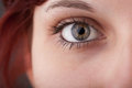 Portrait of a pretty girl close up eye beautiful Stock Images
