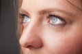 Portrait of a pretty girl close up eye beautiful Royalty Free Stock Image