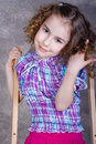 Portrait of a pretty little girl Royalty Free Stock Image
