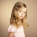Portrait of pretty little girl fashion photo Stock Photography