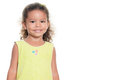 Portrait of a pretty small hispanic girl smiling Royalty Free Stock Photo