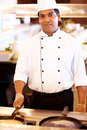 Portrait of professional male chef at restaurant Royalty Free Stock Image