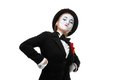 Portrait of the proud and arrogant mime Royalty Free Stock Photo