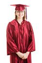 Portrait of proud high school graduate female isolated on white background Royalty Free Stock Photo