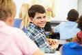 Portrait of pupil in class smiling to camera Royalty Free Stock Photo