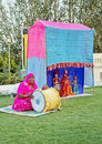 Portrait of Rajasthani puppet performance Royalty Free Stock Photography