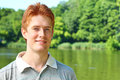 Portrait of a red haired man Stock Photo