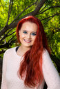 Portrait of a Red Headed Teen Girl Royalty Free Stock Photo