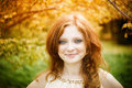 Portrait Of Redhead Girl With ...