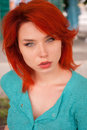 image photo : Portrait of redhead woman