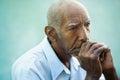 Portrait of sad bald senior man Royalty Free Stock Photos
