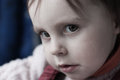 Portrait of sad child close up Stock Image