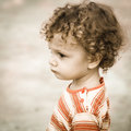 Portrait of sad child happy Royalty Free Stock Images