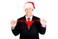 Portrait of santa businessman with female thongs stretching Stock Photography