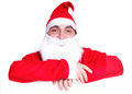 Portrait of Santa Claus isolated Royalty Free Stock Image