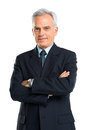 Portrait Of Senior Businessman With Hands Folded Royalty Free Stock Photo
