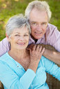 Portrait of senior couple Stock Image