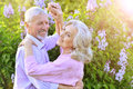 Portrait of a senior couple dancing Royalty Free Stock Photo