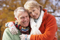 Portrait Of Senior Couple Hugging Stock Images