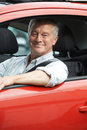 Portrait Of Senior Man Driving Car Royalty Free Stock Photo