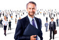 Portrait of a senior smiling man men in front group people Royalty Free Stock Photos