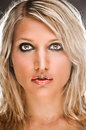 Portrait Of A Sensual Blond Woman Royalty Free Stock Photo
