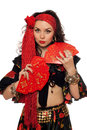 Portrait of sensual gypsy woman Royalty Free Stock Images
