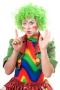 Portrait of serious female clown Royalty Free Stock Image