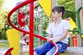 Kids on playground Royalty Free Stock Photo