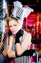 Portrait of a showgirl Royalty Free Stock Photo