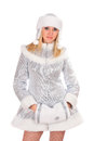 Portrait of a sexy Snow Maiden Royalty Free Stock Photos