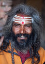 Portrait of shaiva sadhu (holy man) Stock Photo