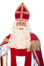 Portrait of sinterklaas on a white background Stock Photo