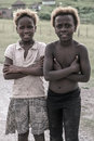 Portrait of sisters of a tribe village south africa coffee bay january smiling to the camera near to oribi gorge nature reserve Stock Images