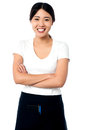 Portrait of smiling asian waitress Royalty Free Stock Photo