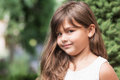 Portrait of smiling attractive little girl Royalty Free Stock Photo