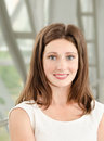 Portrait of smiling beautiful young businesswoman in office Royalty Free Stock Photography