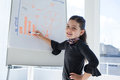 Portrait of smiling businesswoman writing on whiteboard during meeting Royalty Free Stock Photo