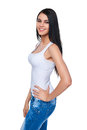 Portrait of smiling casual teen girl Royalty Free Stock Photo