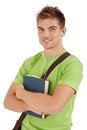Portrait of smiling college boy Royalty Free Stock Photo