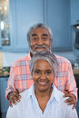 Portrait of smiling couple at home Royalty Free Stock Photo