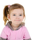 Portrait of smiling cute little girl Stock Photos