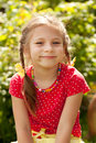 Portrait of a smiling little girl Stock Image
