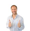 Portrait of the smiling man Stock Photography