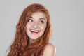 Portrait of a smiling red haired girl Royalty Free Stock Images
