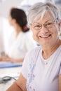 Portrait of smiling senior woman Royalty Free Stock Photo